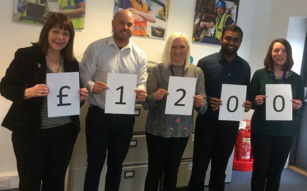 Gi Group's New Look Team raise £1200 for MacMillan