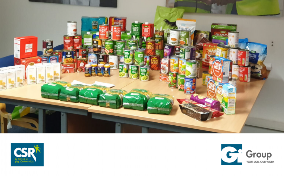 Gi Group helps Stockport Foodbank through local team donations