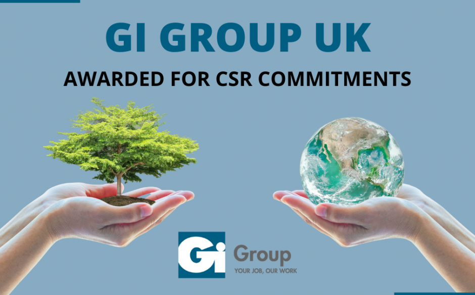 Gi Group UK awarded silver medal by EcoVadis for CSR commitment