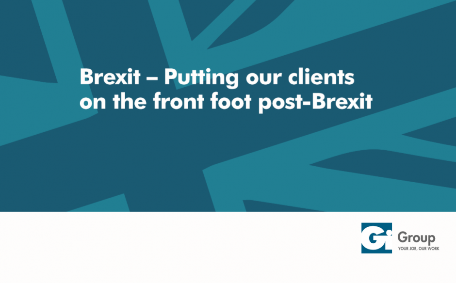 Brexit: Putting our clients on the front foot post Brexit