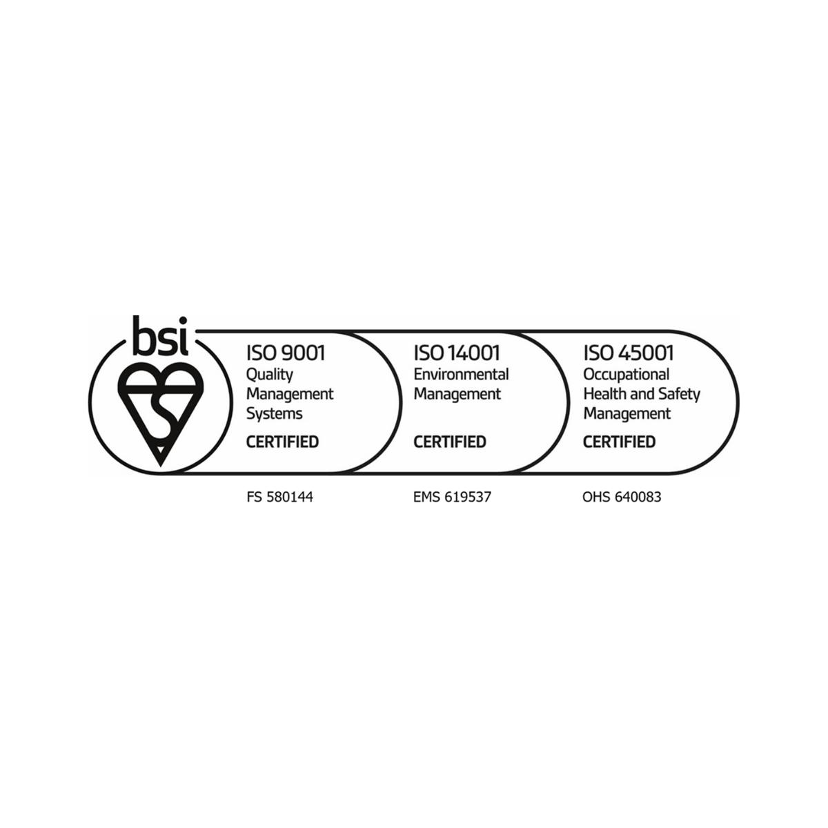 ISO 9001 | ISO 14001 | ISO 45001