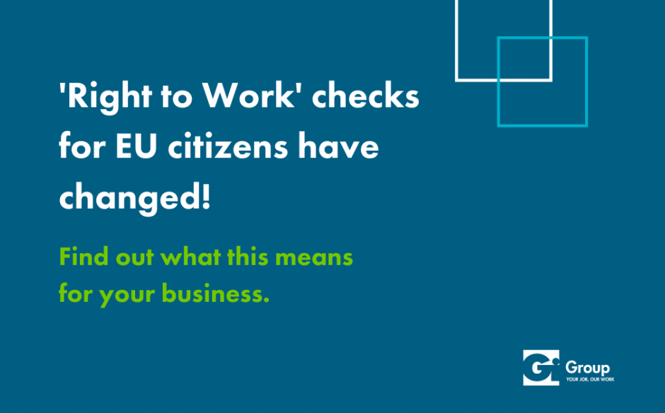 Checking the Right To Work for EEA, EU & Swiss Citizens has changed.